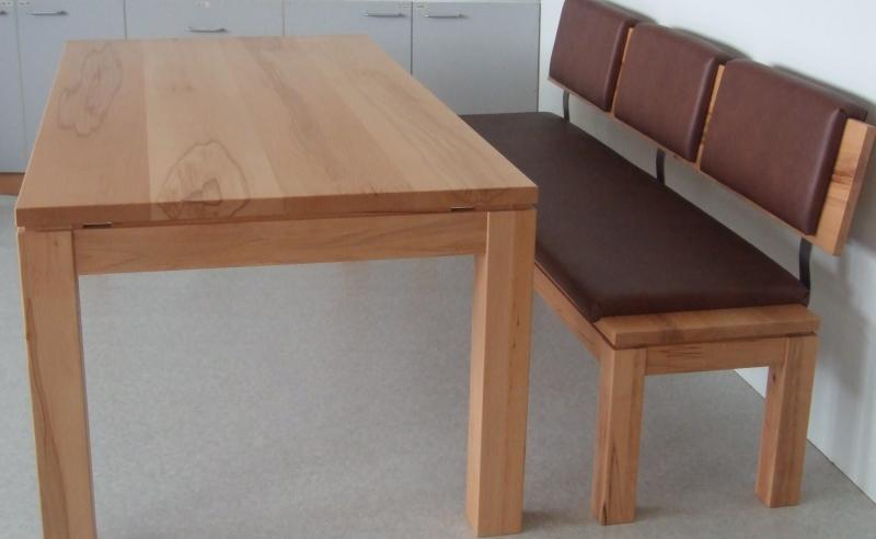 Tisch Mit Bank Aus Kernbuche